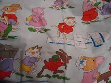 Vintage RICHARD SCARRY ANIMAL Fabric (168cm x 63cm)