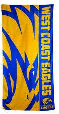 WEST COAST EAGLES AFL BEACH TOWEL