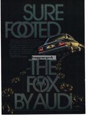 "1974 Audi Fox ""Sure Footed"" Vtg Print Ad"