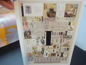 """PETER BLAKE Alphabet Book Plate LETTER """"I"""" Classic POP ART Collage to FRAME Fab!"""