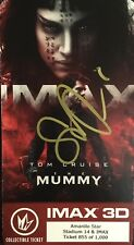 The Mummy SOFIA BOUTELLA SIGNED Collectible Ticket