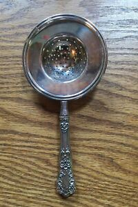 Buttercup by Gorham Sterling Handle Overcup Tea Strainer