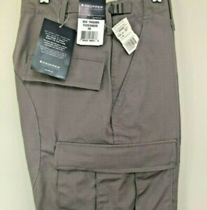 Ripstop BDU Cargo Pant Trousers Battle Rip Ripstop Button Fly Propper Gray NWT