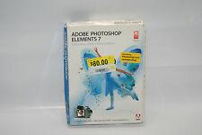 New Sealed Genuine Adobe Photoshop Elements 7 Photo Editing Software XP Vista