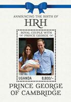 Uganda 2013 - BIRTH OF HRH PRINCE GEORGE OF CAMBRIDGE - Souvenir Sheet  - MNH