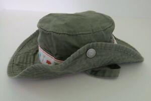 BABY GAP Safari Hat 6-12 Months Brown Green Orange Strap Snap Sides Giraffe #10