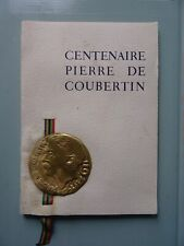 Sport  .Rare brochure du centenaire de la naissance de Pierre de Coubertin  1964