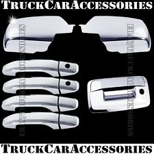 For CHEVY Silverado 2014 15 16 17 18 Chrome Covers Full Mirrors+4 Doors+Tailgate