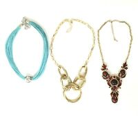 Lot of (3) Vintage Costume Jewelry Necklaces Adjustable Lengths #DA487