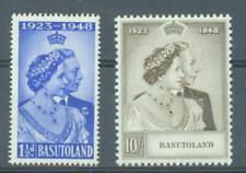 Basutoland 1948 Silver Wedding sg.36-7 lightly MH  set of 2