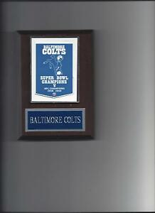 BALTIMORE COLTS SB BANNER PLAQUE SUPER BOWL CHAMPS CHAMPIONS FOOTBALL NFL