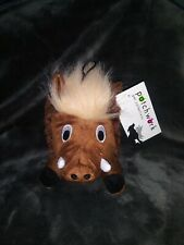 *NEW* Patchwork Pet Plush 8' Swirl The Warthog 🐗 Squeaky Toy For Dogs