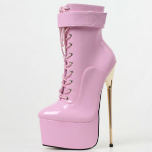 Fetish High Heel Platform Boots Women 22cm Nightclub Party Dance Boots