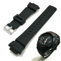 Black Rubber Replacement Watch Band Strap Casio G-Shock G-100 G-101 G200 Series