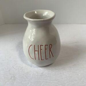 Rae Dunn white Cheer vase