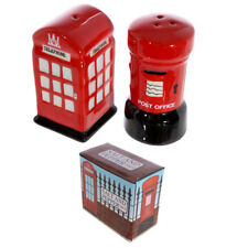 Pepper and salt shakers - London phone cell and mailbox - porcelain - giftset