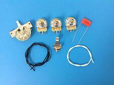 STRAT WIRING KIT - For Fender or Squier Stratocaster - CTS, CRL, Orange Drop