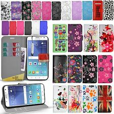 For SAMSUNG GALAXY J5 2015 J00f -Wallet Leather Case Cover + Screen Protector