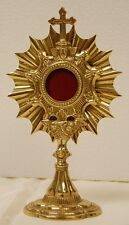 SMALL BRASS RELIQUARY FOR YOUR RELIC - 100 - (CHURCH, RELIGIOUS)