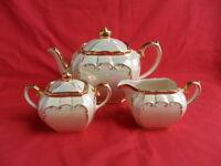 Sadler, Cream Lustre/Mother of Pearl, 3 Piece Cube Teapot Set REDUCED!