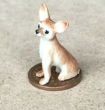 1:12 Scale Sitting Chihuahua Ceramic Puppy Dog Tumdee Dolls House Ornament KD14