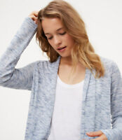 NWT Ann Taylor Loft Spacedye Open Cardigan. Blue. Medium.