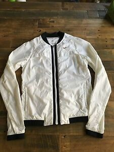 NIKE DRI FIT RUNNING VENTED JACKET WHITE WOMENS XSMALL