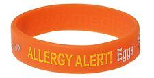 Egg Allergy Alert Silicone Wristband - Medical Alert ID Bracelet by Mediband