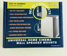 Universal Home Cinema Wall Speaker Mounts (Set of 5 Brackets)