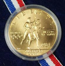 1984 Olympic $10 BU UNC Gold Eagle Commemorative Coin US Mint w/ Box & COA