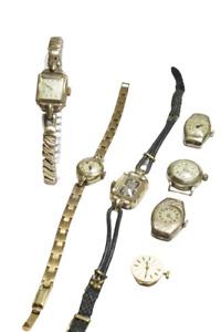 sieben DAUs Damenuhr vergoldet mechanisch Handaufzug DEFEKT Arctos Porta Dugena