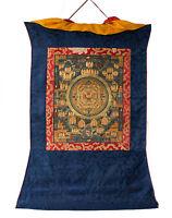 Thangka Tibetano Da Vita Da Budda -tangka Appeso Bouddhiste-69x54 cm-6708