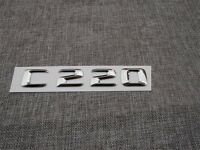 Chrome Rear Trunk 3D Letters Number Emblem Emblems Badge for Mercedes Benz C220