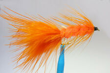 1 x Mouche Streamer Wooly Bugger Orange H10 fliegen mosca fly tying truite