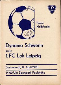 FDGB-Pokal 89/90 Dynamo Schwerin - 1. FC Lok Leipzig, 14.04.1990