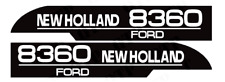 DECAL SET FITS FORD NEW HOLLAND 8360 TRACTORS. HIGH QUALITY.