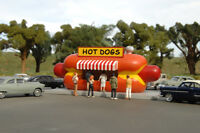 BACHMANN TRAINS 35206 HO Scale HOT DOG STAND Assembled Resin Building FREE SHIP