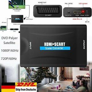 Universal HDMI zu auf Scart  Video Konverter Adapter HD TV mit Free EU Stecker