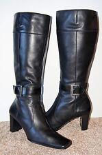 Nine West GOWEST Tall Knee High Black Full Zipper Boots Size 8.5 M