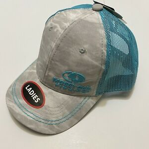Mossy Oak Ladies Fishing Trucker Mesh Back Snap Back Cap/Hat with Pony Tail Back