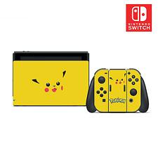 Pokémon Pikachu Vinyl Skin Sticker Set for Nintendo Switch