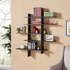 Danya B™ Five Level Black Asymetric Wall Shelf XF151204BK