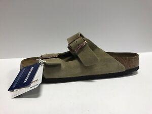 Birkenstock Arizona Mens Sandal Taupe Suede Size EUR44 M US11