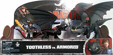 How to Train Your Dragons Toothless and Hiccup VS Armoured Dragon Set