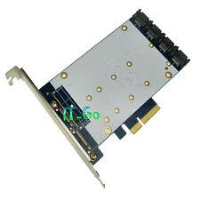 MARVELL 88SE9230 4 PORT SATA III PCIe card RAID Desktop SATA3.0 expansion card