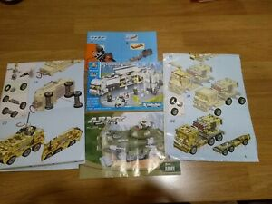Random Selection of Building Instructions 3 x Kaiyutoys, plus 2 others - Used