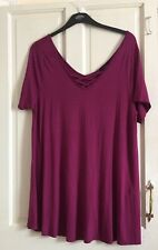 YOURS Top Size 20 Purple Used Good Condition T Shirt Stretchy