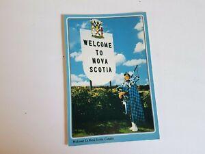 Welcome to Nova Scotia Postcard Vintage Unposted