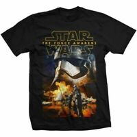 Para Hombre Star Wars Episodio VII Phasma Y Trooper Camiseta - Crew Cuello Retro