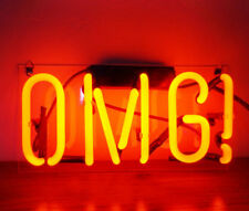 New Omg Oh My God Bar Pub Logo Acrylic Neon Light Sign 14""